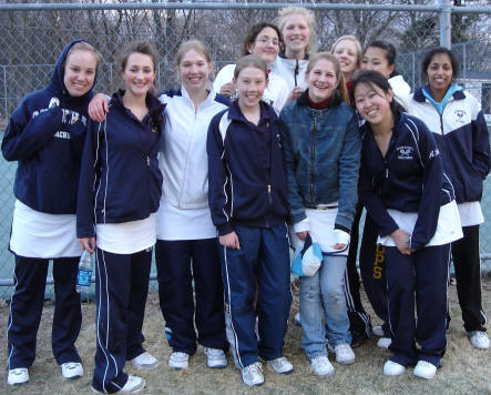 Varsity and JV tennis team